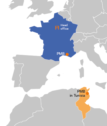 PMB sites France and Tunisia